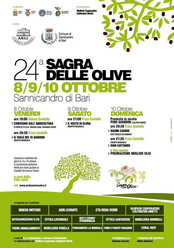 manifesto e programma sagra delle Olive 2010 - Sannicanro di Bari